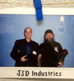 Polaroid of JS Design Industries Team, Micheal and Frank.