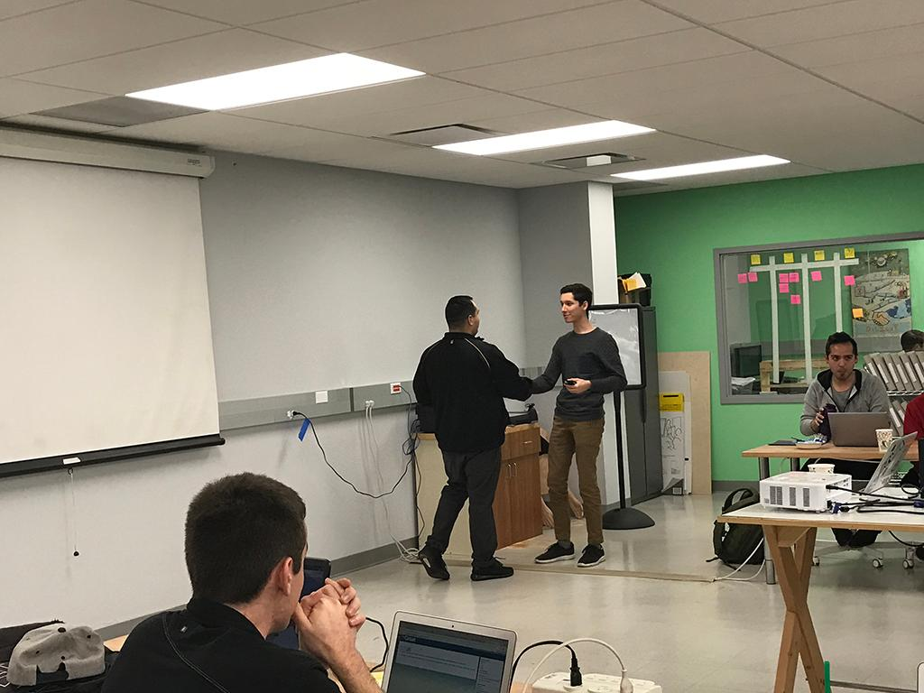 Josh Munoz, E-Track graduate.