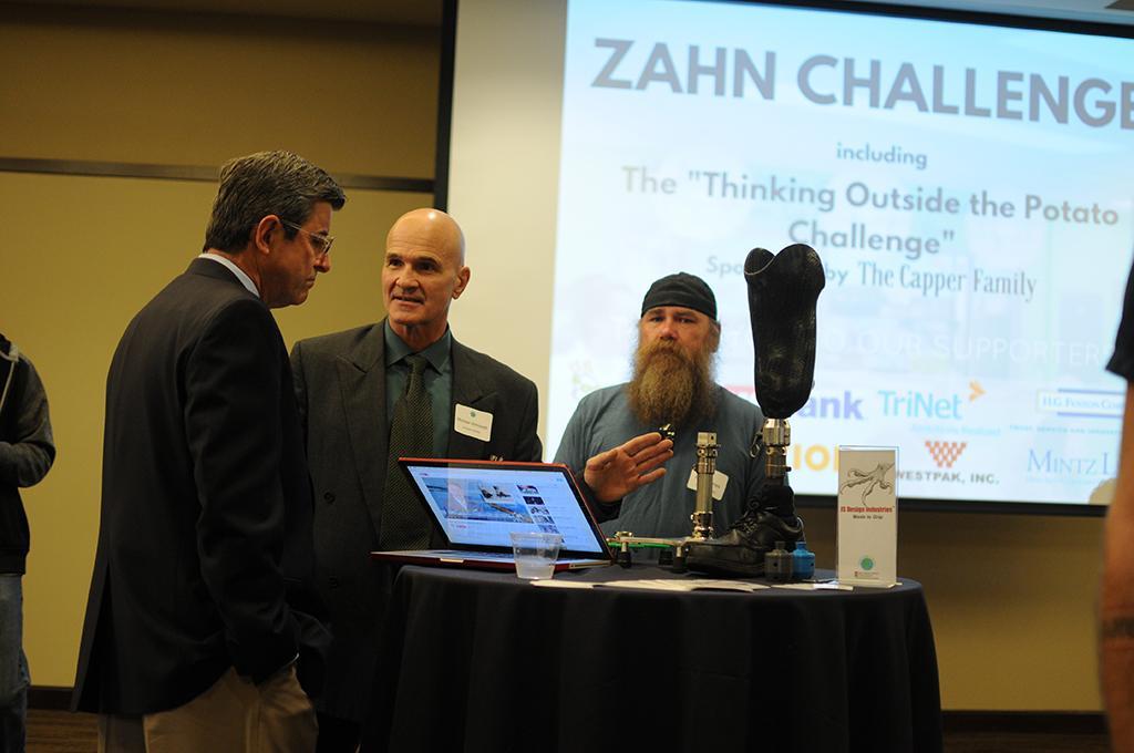 JS Design Industries tabling at the 2016 Zahn Challenge