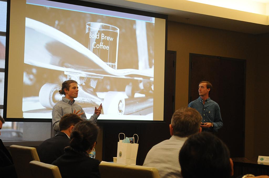 Bold Brew Team pitching at the Fall 2016 Review Panel