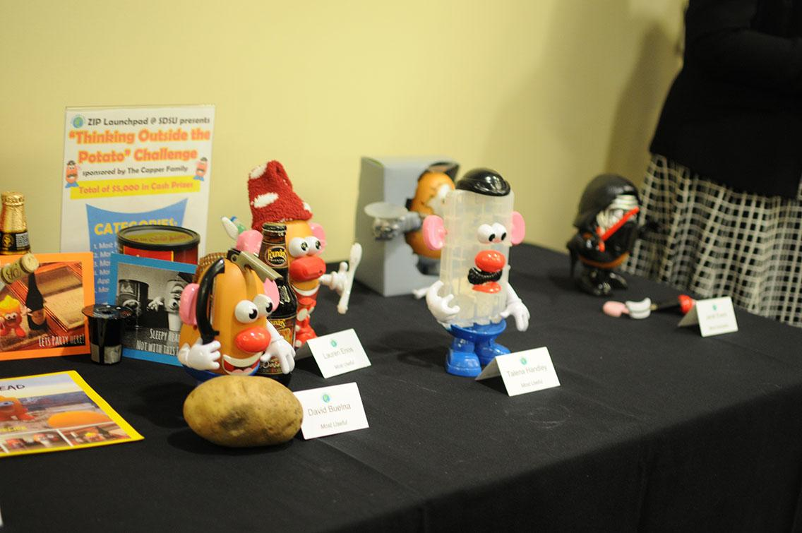 Some of the innovations on Mr. Potato Head entered into the competition.